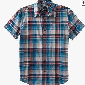 prAna Men's Ecto Short Sleeve Shirt in Mood Indigo